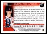 2010 Topps #131  Dustin Richardson  Back Thumbnail