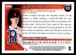 2010 Topps #131  Dustin Richardson  Back Thumbnail