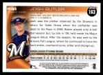 2010 Topps #163  Josh Butler  Back Thumbnail