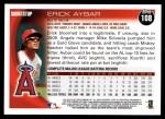 2010 Topps #108  Erick Aybar  Back Thumbnail