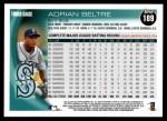 2010 Topps #189  Adrian Beltre  Back Thumbnail