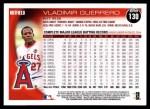 2010 Topps #130  Vladimir Guerrero  Back Thumbnail