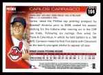 2010 Topps #164  Carlos Carrasco  Back Thumbnail