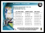 2010 Topps #198   Marlins History Back Thumbnail