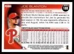 2010 Topps #188  Joe Blanton  Back Thumbnail