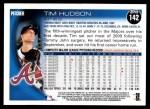 2010 Topps #142  Tim Hudson  Back Thumbnail
