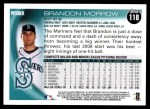 2010 Topps #118  Brandon Morrow  Back Thumbnail