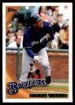 2010 Topps #124  Rickie Weeks  Front Thumbnail