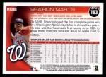 2010 Topps #193  Shairon Martis  Back Thumbnail