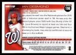 2010 Topps #196  Ian Desmond  Back Thumbnail