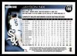 2010 Topps #180  Jayson Nix  Back Thumbnail