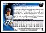 2010 Topps #177  Adam Lind  Back Thumbnail