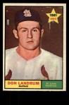 1961 Topps #338  Don Landrum  Front Thumbnail