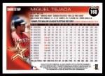 2010 Topps #160  Miguel Tejada  Back Thumbnail