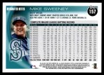 2010 Topps #157  Mike Sweeney  Back Thumbnail