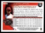 2010 Topps #145  Justin Upton  Back Thumbnail
