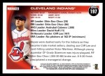2010 Topps #197   Indians Team Back Thumbnail