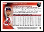 2010 Topps #178  Kerry Wood  Back Thumbnail