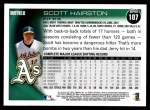 2010 Topps #107  Scott Hairston  Back Thumbnail