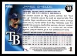 2010 Topps #195  James Shields  Back Thumbnail