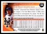 2010 Topps #184  Jeff Francoeur  Back Thumbnail