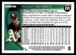 2010 Topps #283  Adam Kennedy  Back Thumbnail