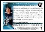 2010 Topps #275   -  Chris Coghlan NL Rookie of the Year Award Winner Back Thumbnail