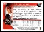 2010 Topps #215  Max Scherzer  Back Thumbnail