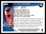 2010 Topps #296   Braves Team Back Thumbnail