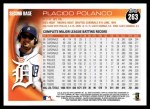2010 Topps #263  Placido Polanco  Back Thumbnail