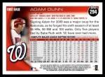 2010 Topps #294  Adam Dunn  Back Thumbnail