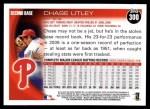 2010 Topps #300  Chase Utley  Back Thumbnail