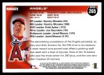 2010 Topps #265   Angels Team Back Thumbnail