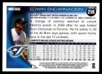 2010 Topps #258  Edwin Encarnacion  Back Thumbnail