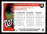 2010 Topps #282   Nationals History Back Thumbnail