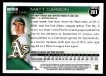 2010 Topps #261  Matt Carson  Back Thumbnail