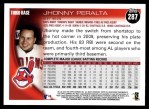 2010 Topps #287  Jhonny Peralta  Back Thumbnail