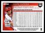 2010 Topps #280  Mark DeRosa  Back Thumbnail