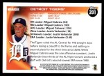2010 Topps #201   Tigers Team Back Thumbnail