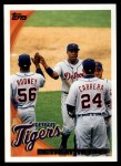 2010 Topps #201   Tigers Team Front Thumbnail