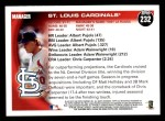 2010 Topps #232   Cardinals Team Back Thumbnail