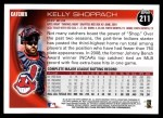 2010 Topps #211  Kelly Shoppach  Back Thumbnail