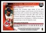 2010 Topps #270  Michael Brantley  Back Thumbnail
