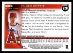 2010 Topps #228  Chris Pettit  Back Thumbnail