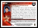 2010 Topps #292  Tommy Manzella  Back Thumbnail
