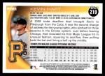 2010 Topps #219  Kevin Hart  Back Thumbnail