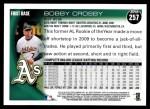2010 Topps #257  Bobby Crosby  Back Thumbnail