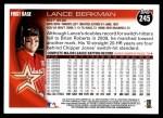 2010 Topps #245  Lance Berkman  Back Thumbnail