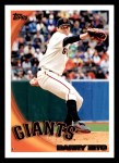 2010 Topps #244  Barry Zito  Front Thumbnail