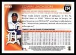 2010 Topps #254  Edwin Jackson  Back Thumbnail